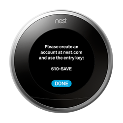 Nest thermostat entry key